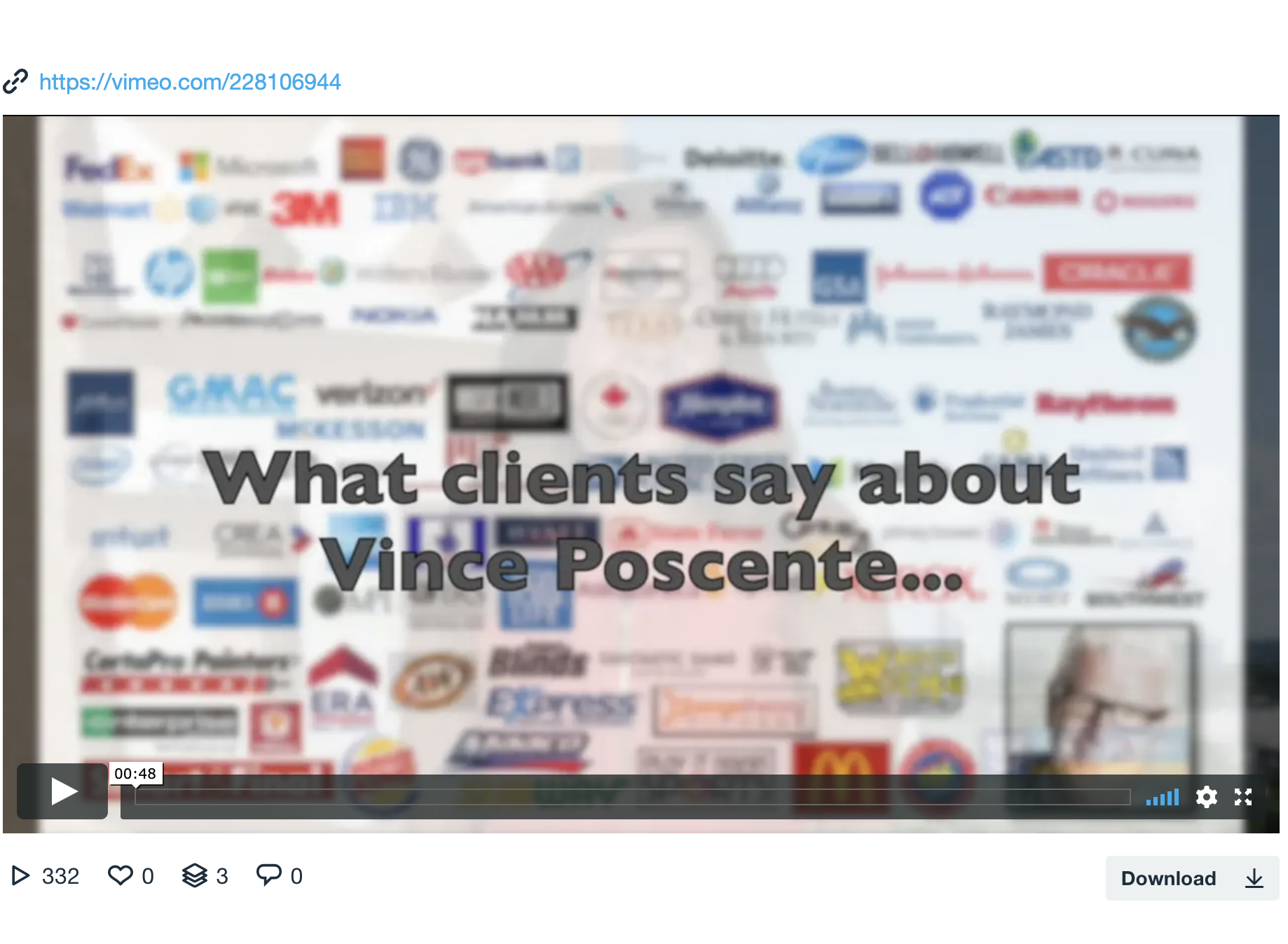 Vince Poscente Safety Speaker Testimonials